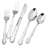 Winco 0004-07 Oyster Fork, Vibro Finish, 18/0 Stainless Steel, Heavy Weight, Elegance Pattern