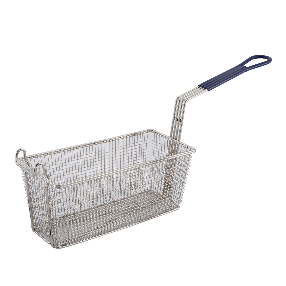Winco FB20 Half Size Fryer Basket, Nickel Plated
