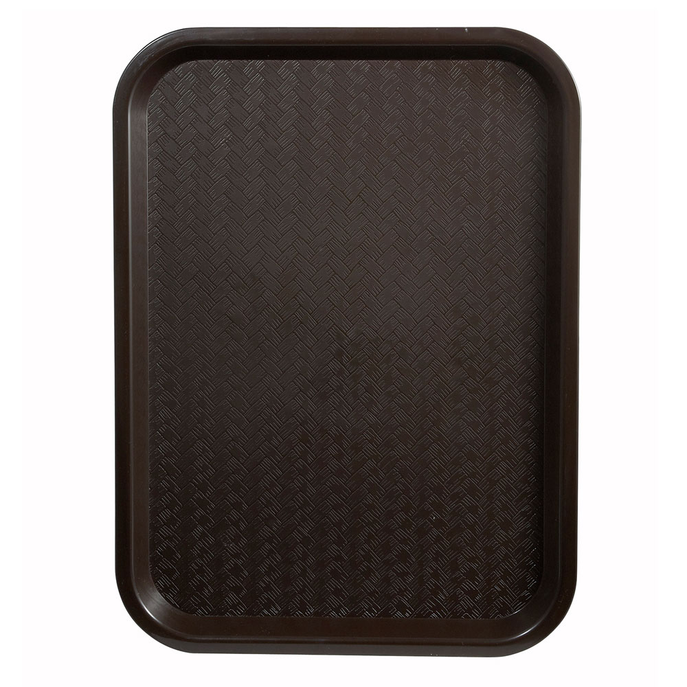 "Winco FFT-1014B Fast Food Tray, 10 x 14"", Brown"
