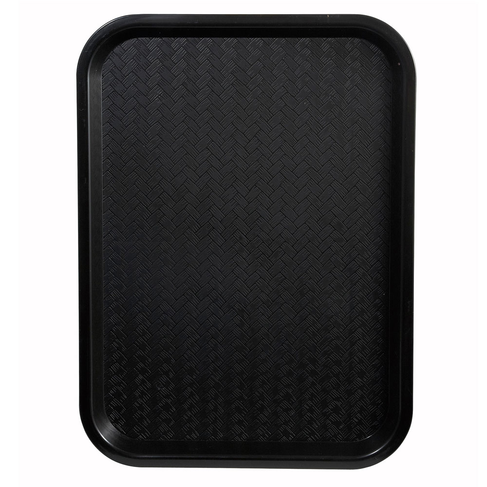 "Winco FFT-1014K Fast Food Tray, 10 x 14"", Black"