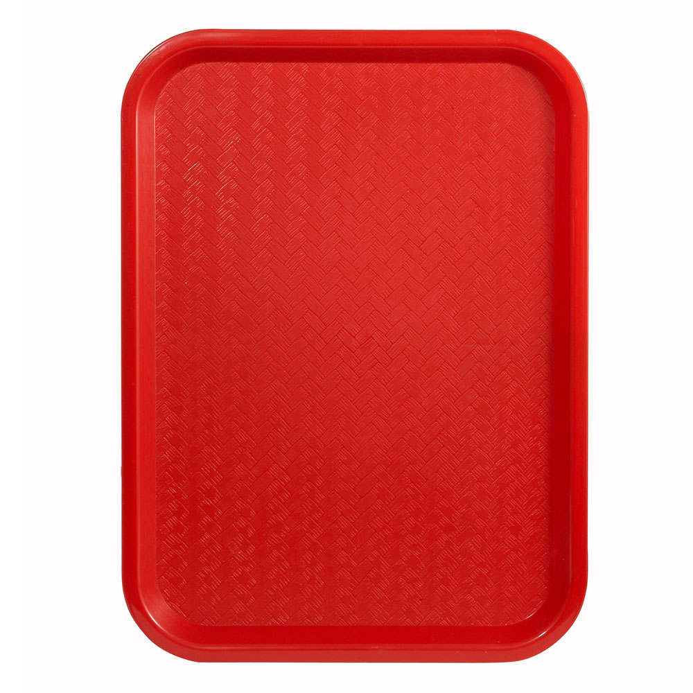 "Winco FFT-1014R Fast Food Tray, 10 x 14"", Red"