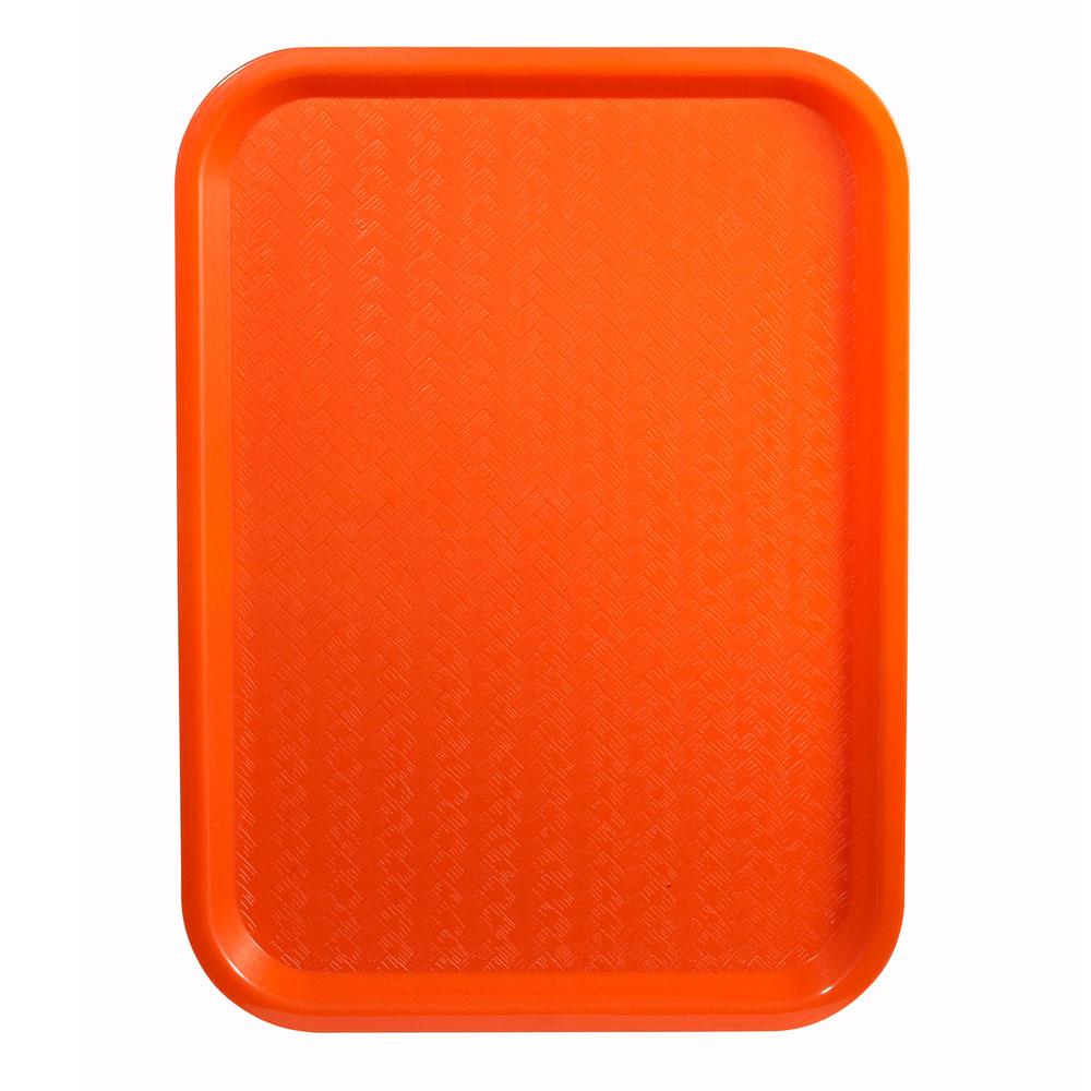 """Winco FFT-1216O Fast Food Tray, 12 x 16"""", Orange"""