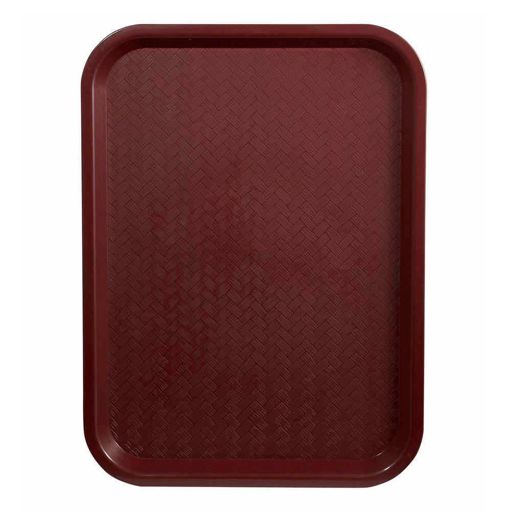 """Winco FFT-1216U Fast Food Tray, 12 x 16"""", Burgundy"""