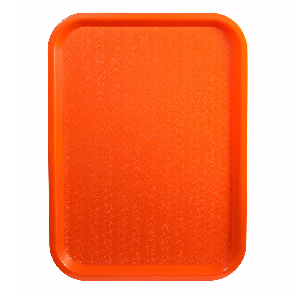 "Winco FFT-1418O Fast Food Tray, 14 x 18"", Orange"