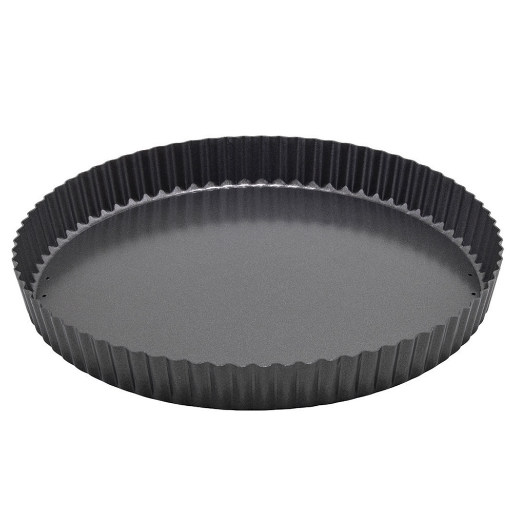 "Winco FQP-12 12"" Quiche Pan - Non-Stick, Carbon Steel"