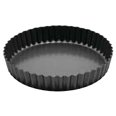 "Winco FQP-8 8"" Quiche Pan - Non-Stick, Carbon Steel"
