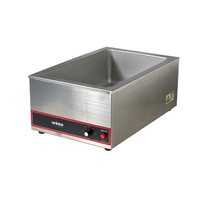 Winco FW-S500 Electric Food Warmer, 6 gal Capacity, 1200W