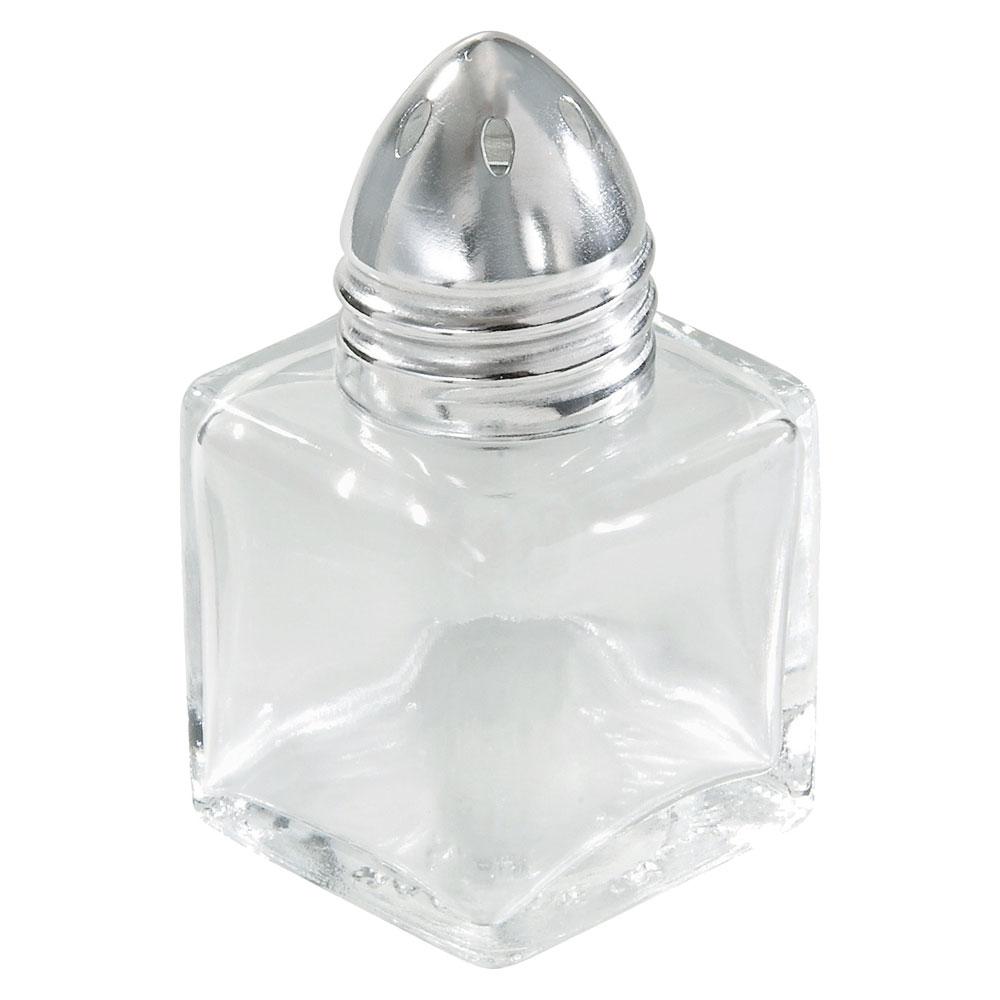 "Winco G-100 2"" Salt/Pepper Shaker w/ Metal Lid, Square"