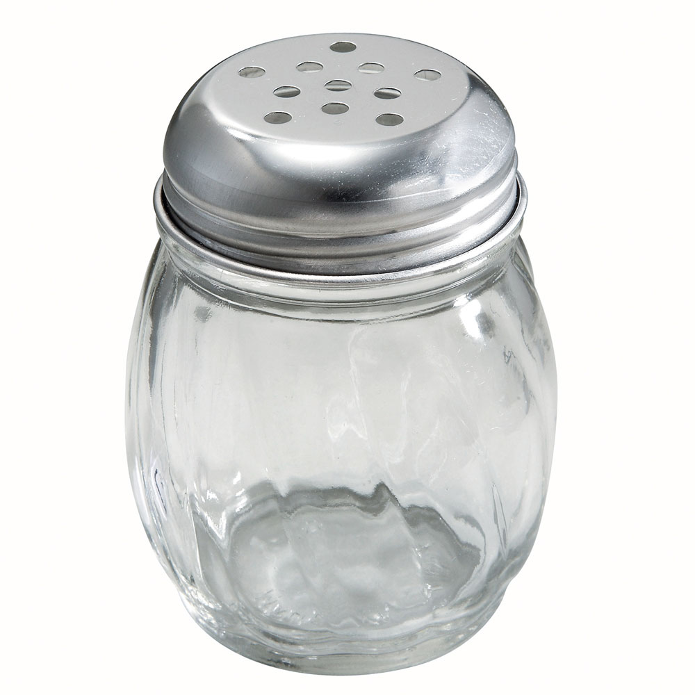 Winco G-107 Glass Cheese Shaker w/ Perforated Top