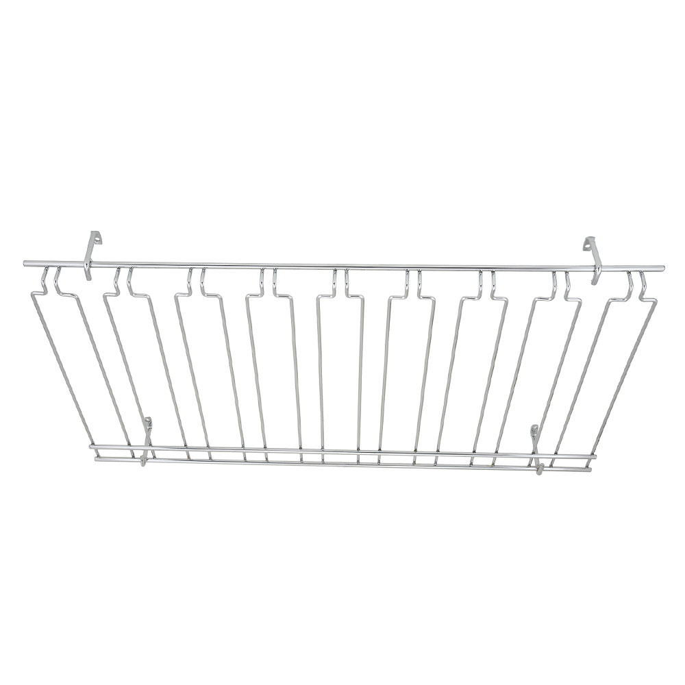 "Winco GHC-1836 Overhead Glass Rack, 18"" X 36"" X 4 in, Chrome Plated"