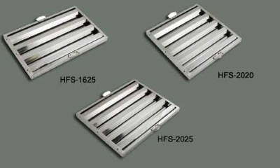 "Winco HFS2020 Hood Filter, 20 W x 20 H x 1.5"" Depth, Stainless"