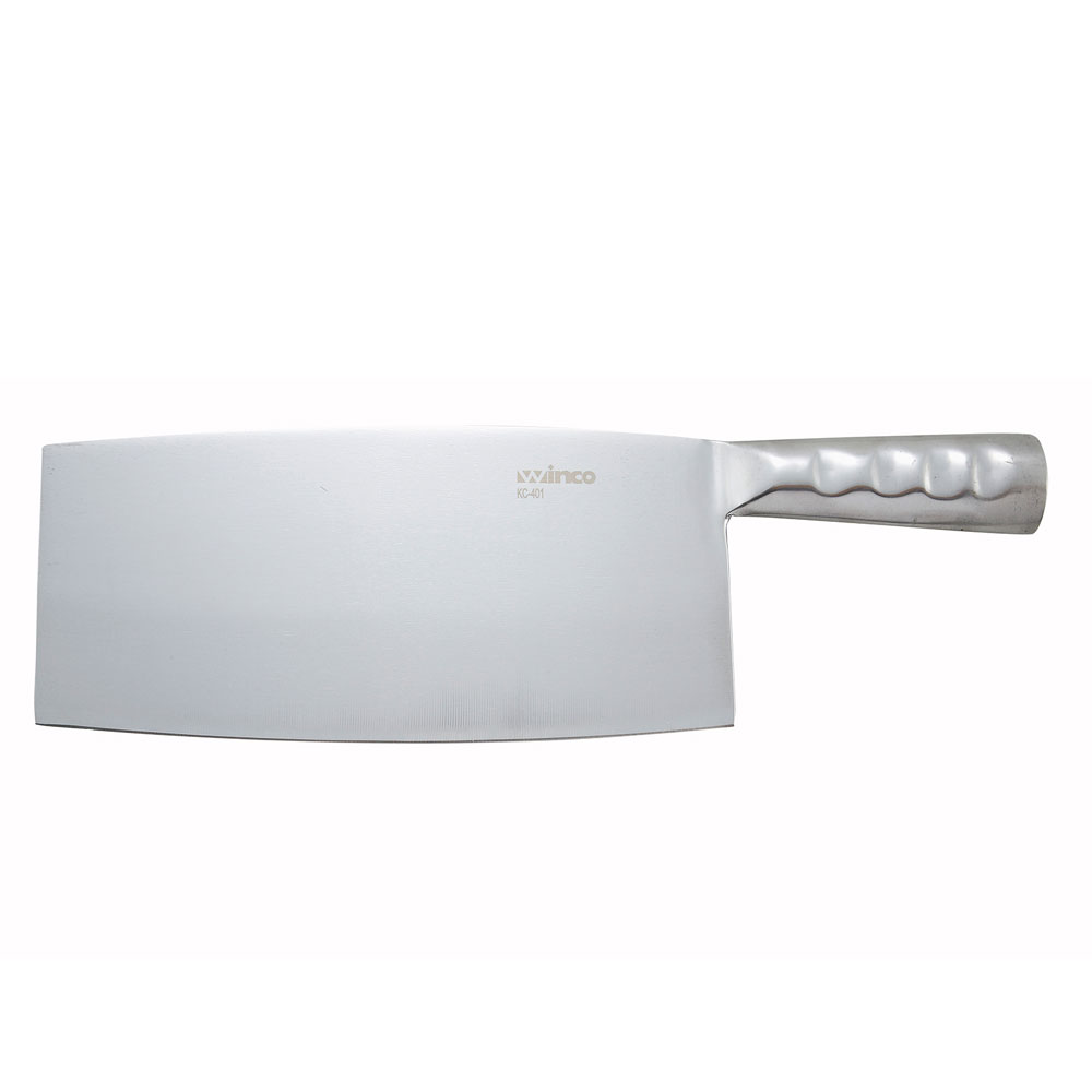 Winco KC401 Chinese Cleaver w/ Steel Handle, 8.25 x 3.93