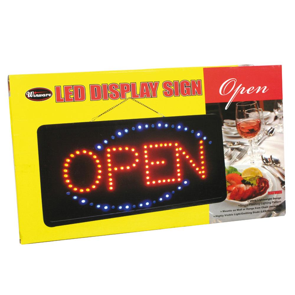 Winco LED-6 LED Sign, OPEN, Single Flashing Pattern