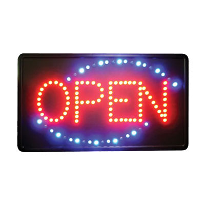 Winco LED-6 LED Sign, OPEN, Single Flashing Pattern