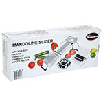 Winco MDL-15 Mandoline Slicer Set w/ Stainless Steel Hand Guard