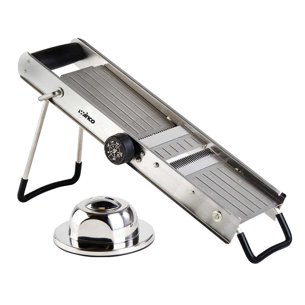 Winco MDL-18 Mandoline Slicer w/ Adjustable Dial, Stainless