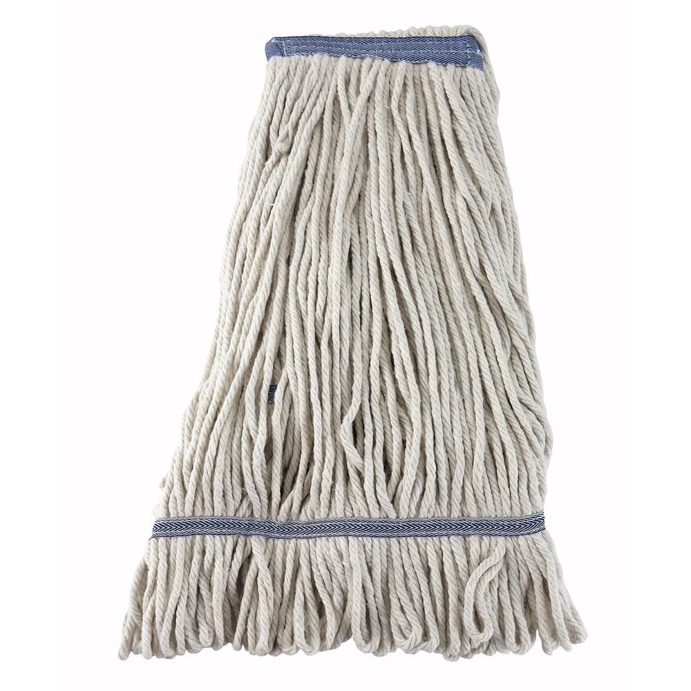 Winco MOP-24W 24-oz Wet Mop Head, White Yarn, Looped End