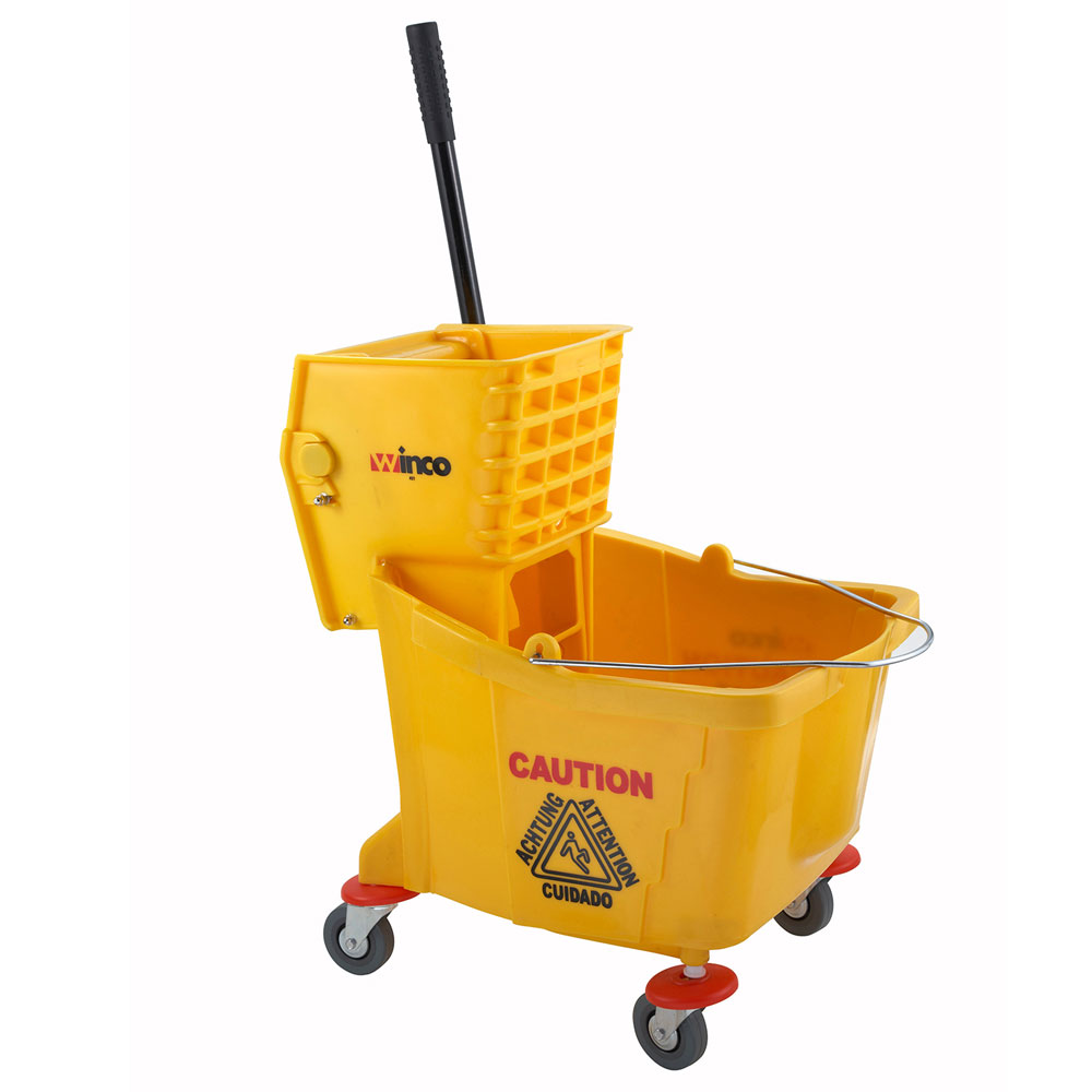 Winco Mpb 36 Mop Bucket With Wringer 36 Quart Yellow