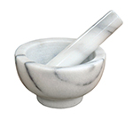 "Winco MPS-42W 4.5"" Mortar and Pestle Set, Marble"