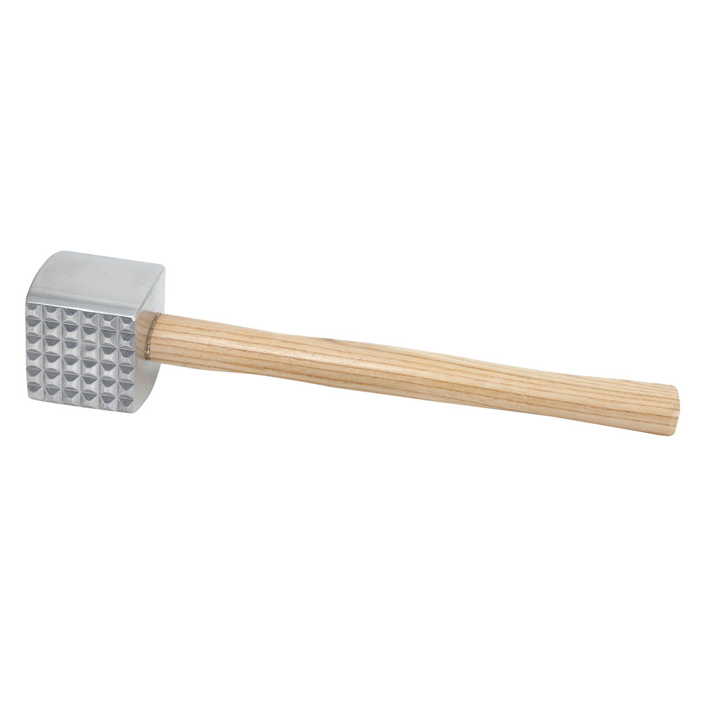 Winco MT-4 Meat Tenderizer w/ Wood Handle, Aluminum