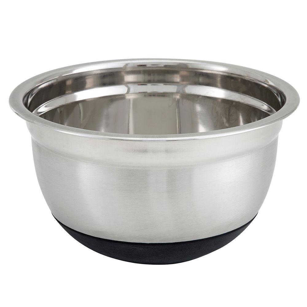 Winco MXRU-150 1.5-qt German Mixing Bowl w/ Mirror Finish Stainless, Non-Slip Silicon Base