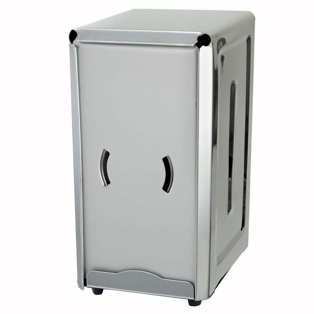 """Winco NH7 Full Size Napkin Dispenser for 3.5 x 7"""", Stainless"""