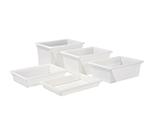 "Winco PFFW-15 Food Storage Box - 26x18x15"", Stackable, White"