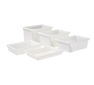 "Winco PFFW-3 Food Storage Box - 18x26x3"", Stackable, White"