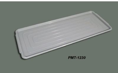 Winco PMT-1230 Polycarbonate Market Tray, 12 in x 30 in, Grey