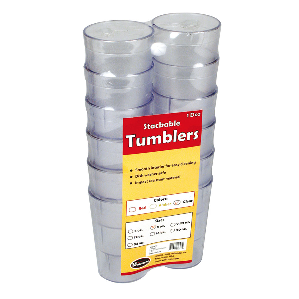 Winco PTP-05C 5-oz Pebbled Tumbler, Clear