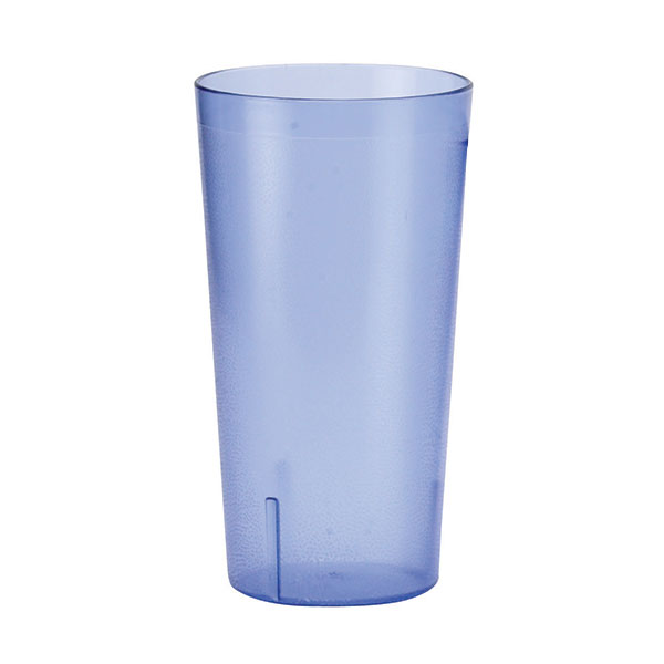 Winco PTP-08B 8-oz Pebbled Tumbler, Blue
