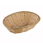 Winco PWBN-9V Oval Woven Basket, Poly, Natural