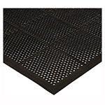 Winco RBMM-35K Rubber Floor Mat - 3x5-ft, Beveled Edges, Black