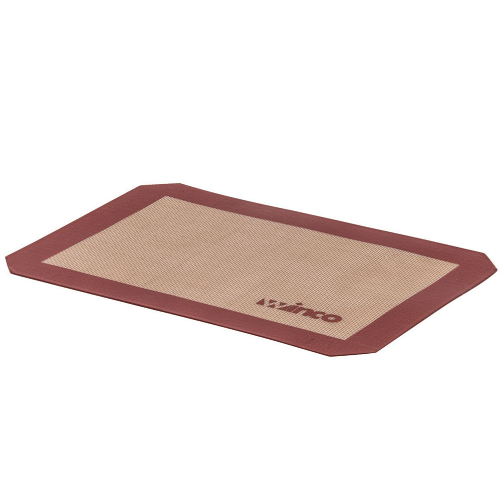 Winco SBS-16 Square Baking Mat, 11-7/8 x 16-1/2 in, Fits 1/2 Size Sheet Pan, Silicone