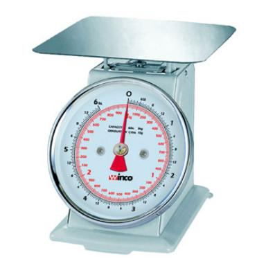 "Winco SCAL-62 Scale, 6-1/2""Dial, 2 lb x 1/4 oz Graduation"