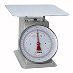 "Winco SCAL-9100 100 lb Receiving Scale, 9"" Dial, Large Steel Platform"