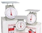Winco SCAL-840 40 lb Receiving Scale, 8 in Dial, Large Steel Platform