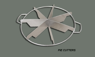 Winco SCU-6 6 Cut Pie Cutter, Stainless Steel