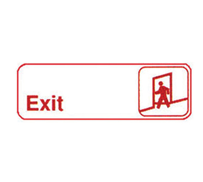 "Winco SGN-381W Exit Sign - 3x9"", White"