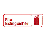 "Winco SGN-382W Fire Extinguisher Sign - 3X9"",White"