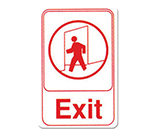"Winco SGN-681W Exit Sign - 6X9"" , White"