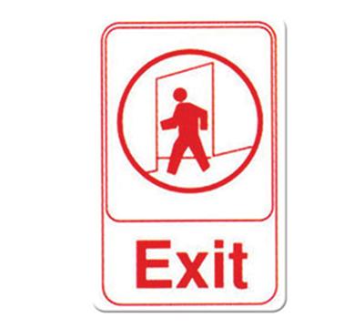 """Winco SGN-681W Exit Sign - 6X9"""" , White"""