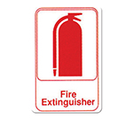 "Winco SGN-682W Fire Extinguisher Sign - 6x9"", White"
