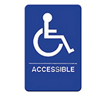"Winco SGNB-653B Accessible Sign, Braille - 6x9"", Blue"