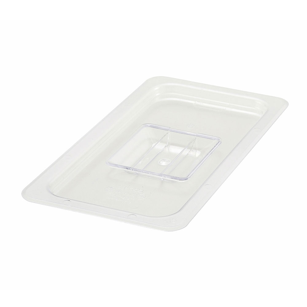 Winco SP7300S 1/3-Size Solid Food Pan Cover, Polycarbonate