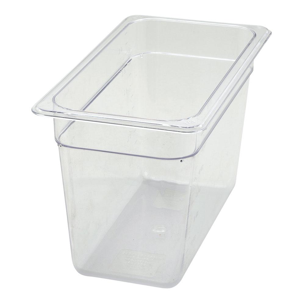 """Winco SP7308 1/3-Size Food Pan, 8"""" Deep, Break Resistant Polycarbonate"""