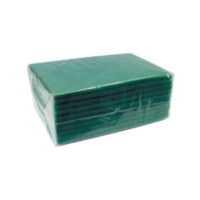 "Winco SP-96 Scouring Pad, 6 x 9 x .37"", Green"