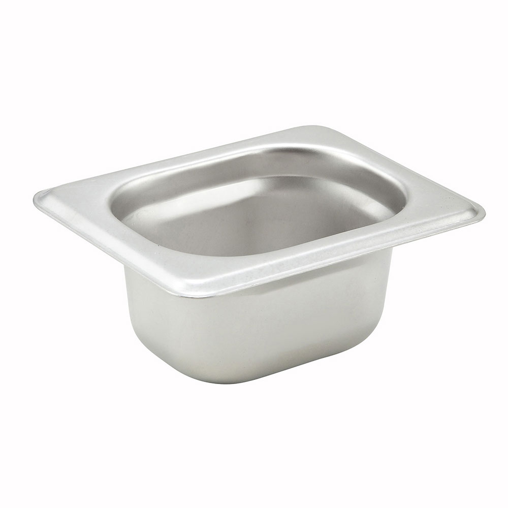 "Winco SPJH-1802 1/18-Size Steam Table Food Pan, Anti-Jamming, 2"" Deep, Stainless"