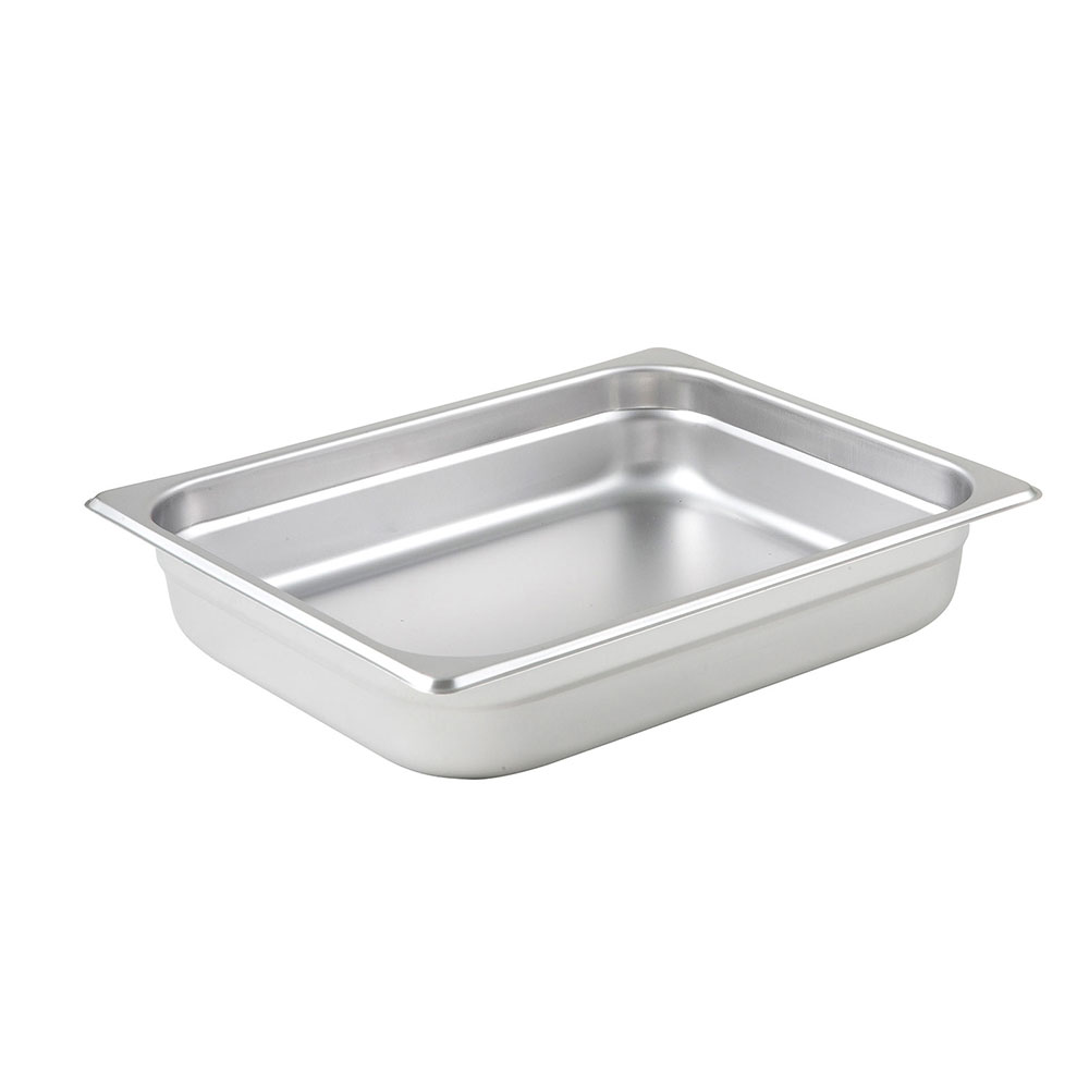 Winco SPJL-202 Half-Sized Steam Pan, Stainless