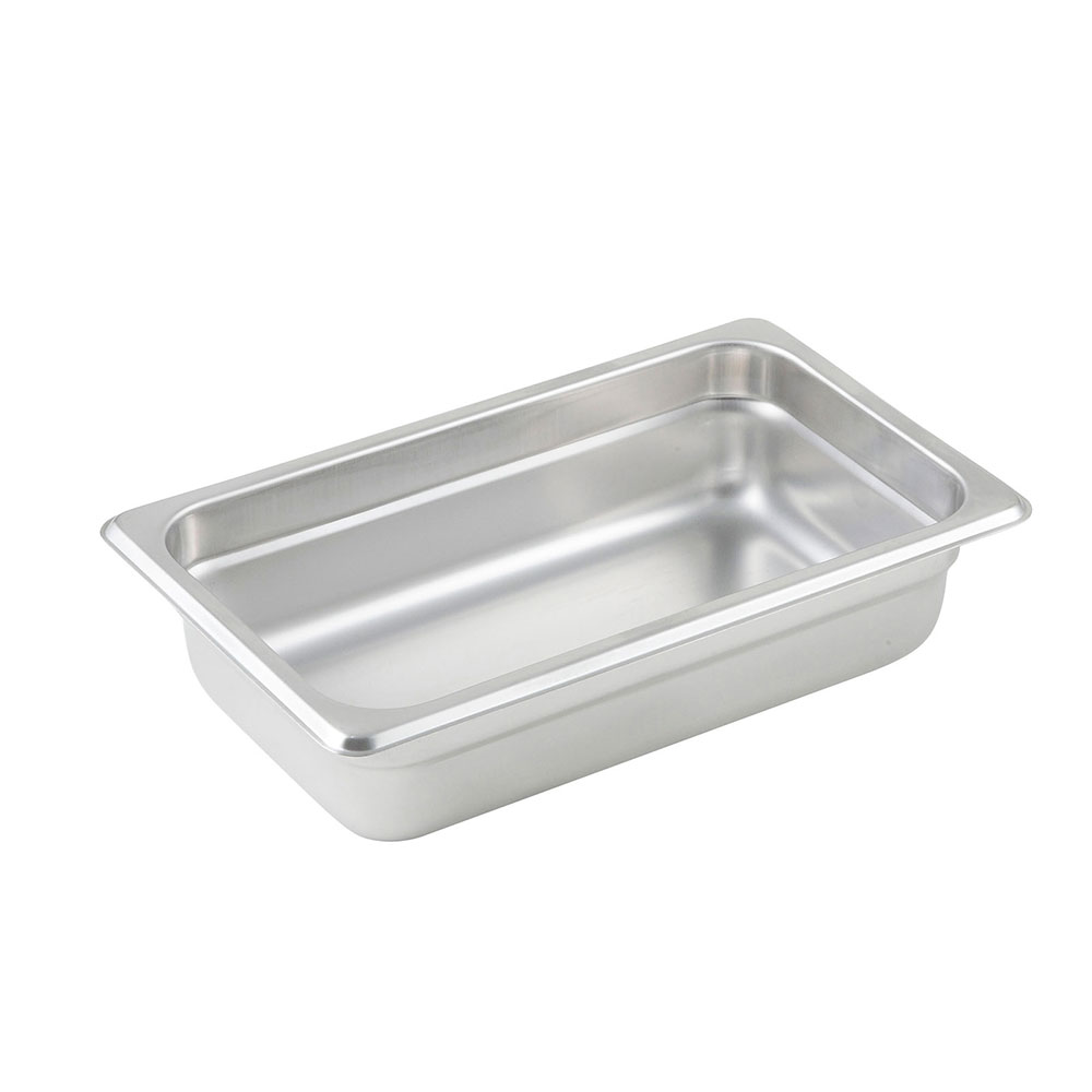 Winco SPJL-402 Fourth-Size Steam Pan, Stainless